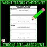 Parent Teacher Conference Student's Self Assessment