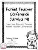 Editable Parent Teacher Conference Survival Kit