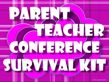 Parent Teacher Conference Survival Kit BUNDLE
