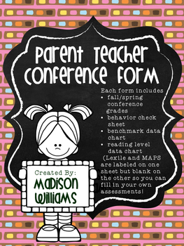 Parent Teacher Conference Template