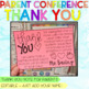 Parent Teacher Conference Thank You Note