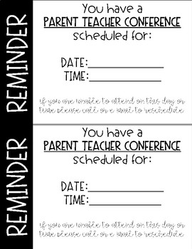Parent Teacher Conference Time Savers