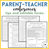 Parent-Teacher Conference Tips, Guide, Sign-Up, Editable Forms, Reflections