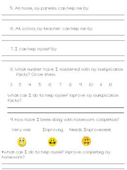 Parent Teacher Conference Tool/Students Use