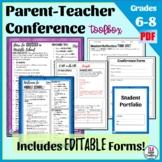 Parent Teacher Conference Forms for Middle School—Editable!