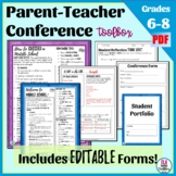 Parent Teacher Conference Forms for Middle School—Editable!