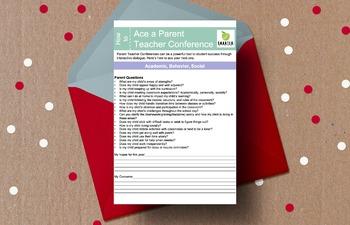 Parent Teacher Conference Worksheet
