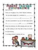 Parent Teacher Conference letter Male Teacher