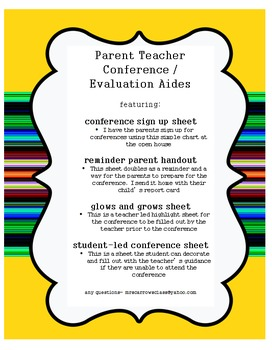 Parent Teacher Conference support documents