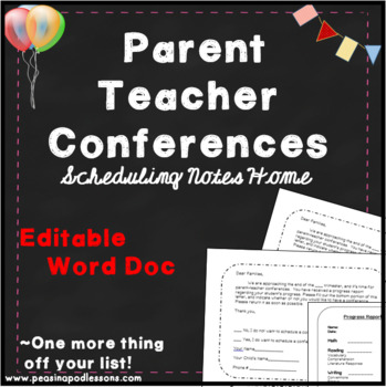 Parent Teacher Conference Scheduling Forms!