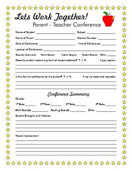 Parent - Teacher Conferences