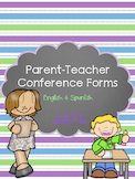 Parent Teacher Conferences Bilingual Forms