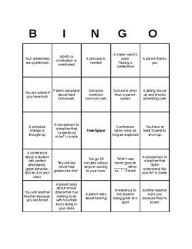 Parent-Teacher Conferences Bingo