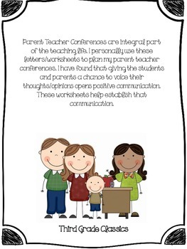 Parent Teacher Conferences Bundle