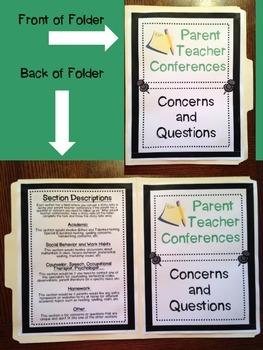 Parent/Teacher Conferences Concerns and Questions Tool