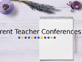 Parent Teacher Conferences EDITABLE Pack