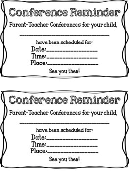 Parent Teacher Conferences EDITABLE Sign in Sheet and Poster