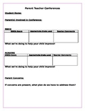 Parent Teacher Conferences- Editable