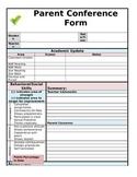 Parent Teacher Conferences Form