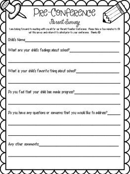 Parent Teacher Conferences Freebie