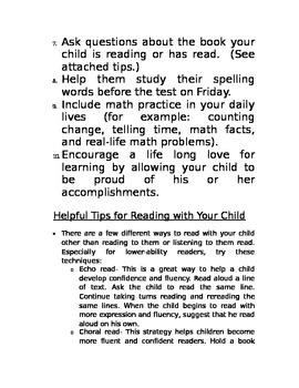 Parent Teacher Conferences Handout