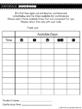 Parent Teacher Conferences Packet {{BILINGUAL & EDITABLE}}