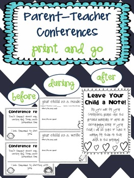 Parent Teacher Conferences - Print & Go!