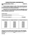 Parent Teacher Conferences Resources