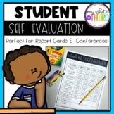 Parent Teacher Conferences- Self Evaluation - Editable!