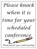 Parent Teacher Conferences Sign for Door
