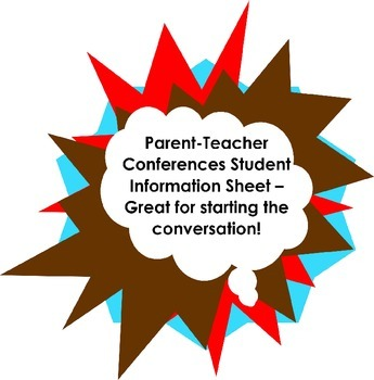 Parent-Teacher Conferences Student Information Form CLASS SET