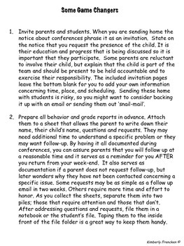 Parent-Teacher Conferences Tips and Printables