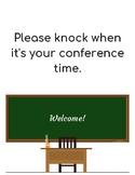 Parent Teacher Conferences Welcome Sign