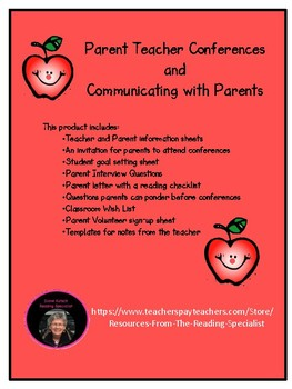 Parent teacher conferences and communications tpt parent teacher conferences and communications altavistaventures Images