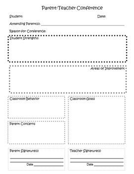 Parent-Teacher Editable Conference Form