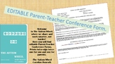 Parent-Teacher Editable Conference Form