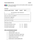 Parent-Teacher Information Form