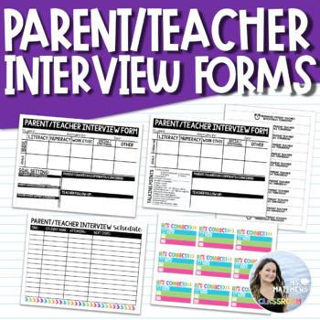 Parent Teacher Interview Form