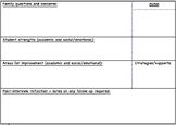 Parent Teacher Interview Notes Resource
