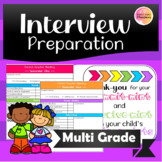 Parent Teacher Interview Preperation!
