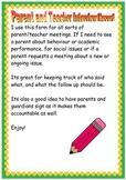 Parent Teacher Interview Record