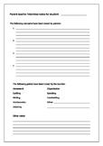 Parent Teacher Interview Record Sheet