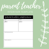 Parent Teacher Interview Template