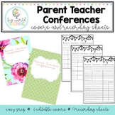 Parent Teacher Conferences/Interviews Recording Sheets and Covers