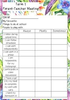 Parent Teacher Meeting Form