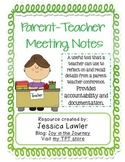 Parent-Teacher Meeting Notes