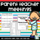 Parent Teacher Meeting - form, self evaluation and door sign