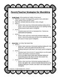 Parent/Teacher Mumbling Strategies