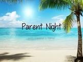 Parent Teacher Night Editable Power Point - Beach Theme