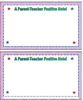 Parent Teacher Positive Notes!